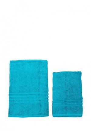 Комплект полотенец 2 шт. Arloni. Цвет: бирюзовый