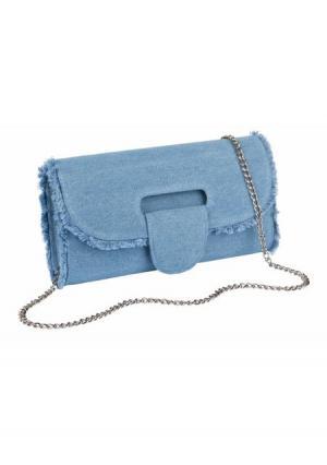 Клатч Collezione. Цвет: джинсовый