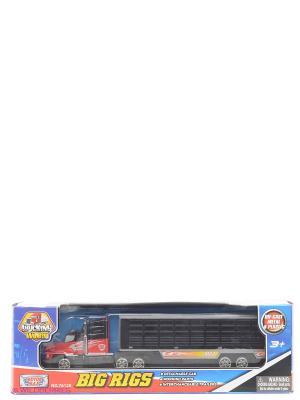 Коллекционная модель грузовика с полуприцепом Motormax. Цвет: темно-синий