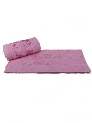 Махровое полотенце 100x150 VERSAL розовое,100% хлопок HOBBY HOME COLLECTION. Цвет: розовый