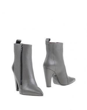 Полусапоги и высокие ботинки WO MILANO. Цвет: серый