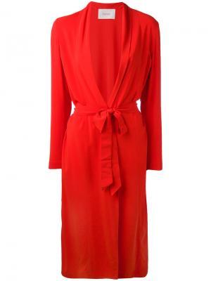 Однобортное пальто Jucca. Цвет: красный