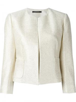 Укороченный пиджак Tagliatore. Цвет: телесный