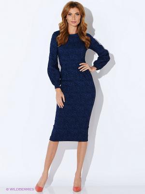 Платье TuttoBene. Цвет: темно-синий
