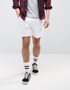 ASOS Белые трикотажные шорты. Цвет: белый