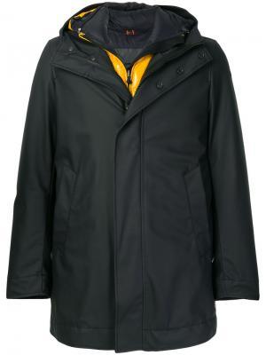 Многослойное пальто-пуховик Rrd. Цвет: синий