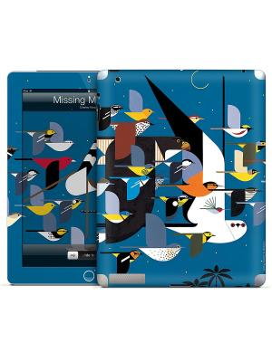 Наклейка для iPad 2,3,4 Missing Migrants-Charley Harper Gelaskins. Цвет: синий, белый