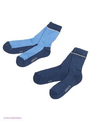 Носки 2 пары Janus. Цвет: синий