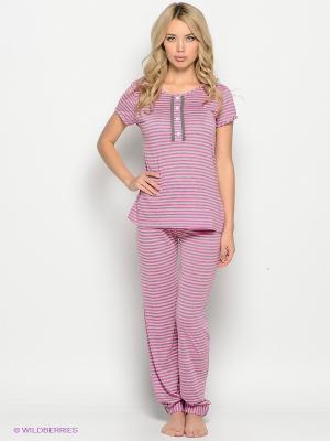 Брюки пижамные Lauma. Цвет: розовый