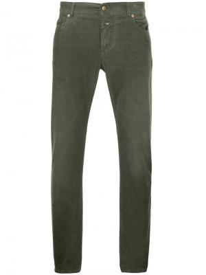 Вельветовые брюки скинни Closed. Цвет: зелёный