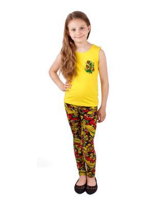 Комплект одежды Апрель. Цвет: черный, желтый, красный