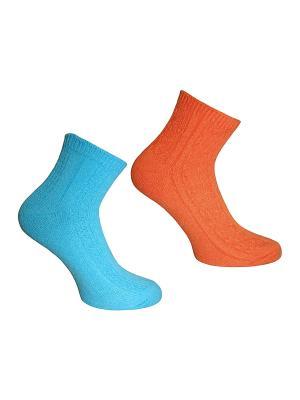 Носки 2 пары Master Socks. Цвет: бирюзовый, оранжевый