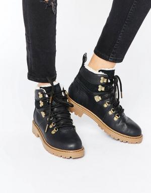 Toms Кожаные походные ботинки. Цвет: черный