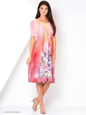 Туника текстильная Vittorio Richi. Цвет: красный, желтый