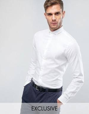 Heart & Dagger Строгая зауженная рубашка со срезанным воротником. Цвет: белый