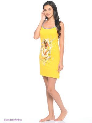 Сорочка NICOLETTA. Цвет: желтый
