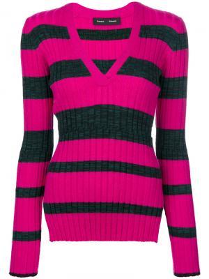 Топ с круглым вырезом и длинными рукавами Proenza Schouler. Цвет: розовый и фиолетовый