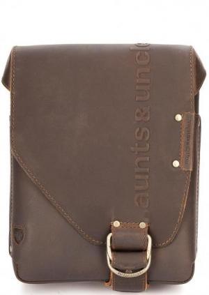 Маленькая кожаная сумка через плечо aunts & uncles. Цвет: коричневый