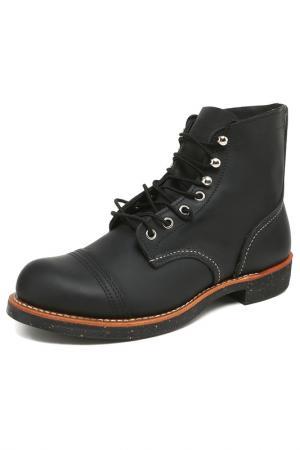 Ботинки RED WING. Цвет: черный