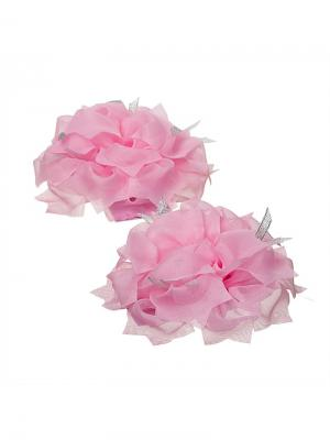 Бант Ариель розовый 2шт Миниледи. Цвет: розовый