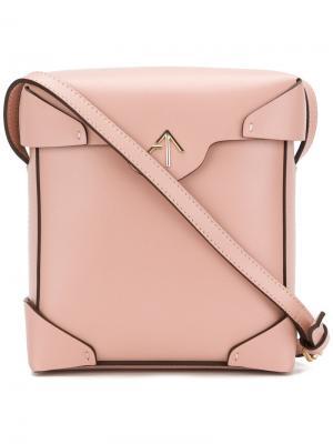 Квадратная сумка через плечо Manu Atelier. Цвет: розовый и фиолетовый