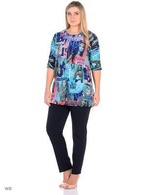 Блузка, модель Кейптаун Dorothy's Home. Цвет: синий, бирюзовый, красный