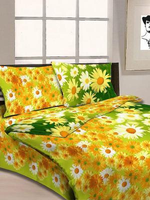 Постельное белье Letto. Цвет: зеленый, желтый, оранжевый