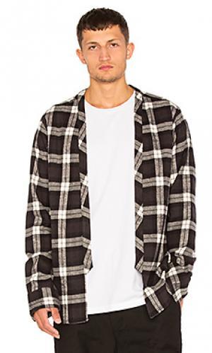 Фланелевая рубашка в клеточку 424. Цвет: black & white