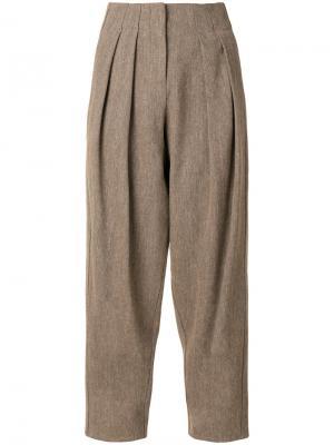 Зауженные брюки Dusan. Цвет: коричневый