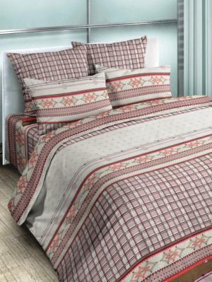 Комплект постельного белья, 1,5-сп, бязь, пододеяльник на молнии Letto. Цвет: серый, коричневый, бежевый