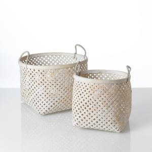 Комплект из 2 корзин Tigra La Redoute Interieurs. Цвет: белый
