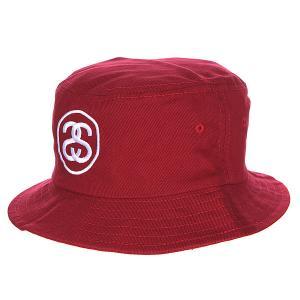 Панама  Hat Burgundy Stussy. Цвет: бордовый