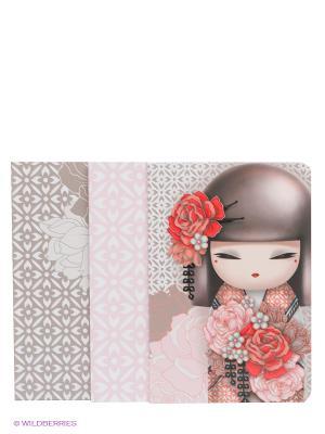 Набор записных книжек Юмико Kimmidoll. Цвет: бежевый, бледно-розовый, белый