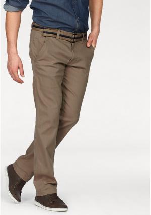 Комплект: брюки чинос + ремень Rhode Island. Цвет: бежевый, серый