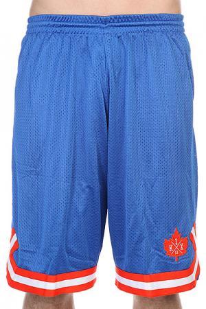 Шорты  Leaf Double-x Shorts Blue/Flame K1X. Цвет: голубой,оранжевый