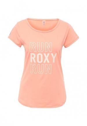 Футболка спортивная Roxy. Цвет: оранжевый