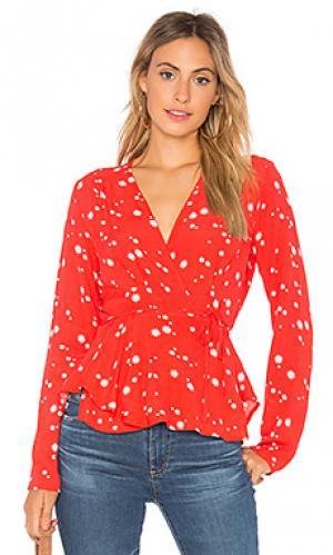 Блузка с запахом dancer ROLLAS ROLLA'S. Цвет: красный