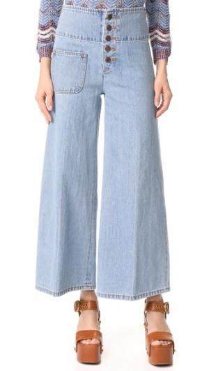 Широкие джинсы Marc Jacobs. Цвет: ретро индиго