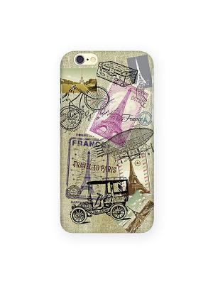 Чехол для IPhone 6 Ретро-Париж Mitya Veselkov. Цвет: бежевый, черный