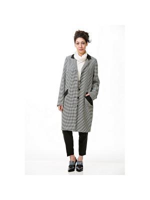 Пальто Lkurbandress. Цвет: серый, черный