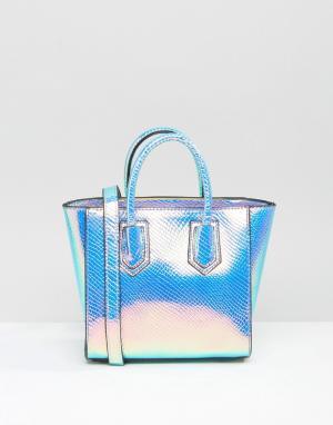 Skinnydip Переливающаяся сумка-тоут. Цвет: мульти
