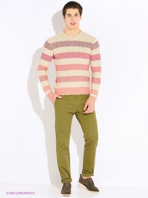 Свитер United Colors of Benetton. Цвет: бежевый, розовый, лиловый