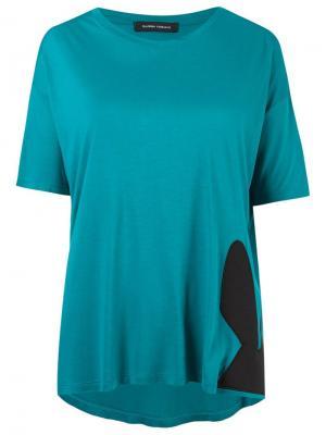 Блузка с круглым вырезом Gloria Coelho. Цвет: синий