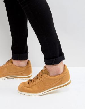 Nike Светло-коричневые кроссовки Classic Cortez SE 902801-700. Цвет: рыжий