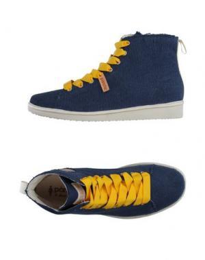 Высокие кеды и кроссовки PÀNCHIC. Цвет: темно-синий