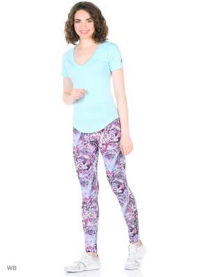 Футболка спортивная жен. IMAGE TEE Adidas. Цвет: голубой