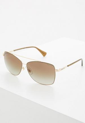 Очки солнцезащитные Ralph Lauren. Цвет: золотой