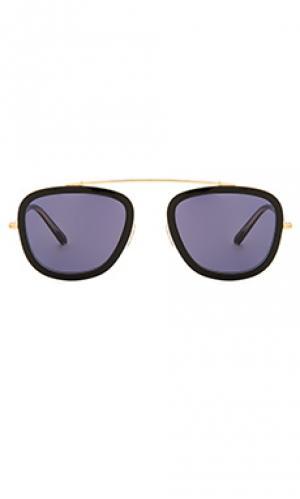 Солнцезащитные очки huey KREWE du optic. Цвет: черный