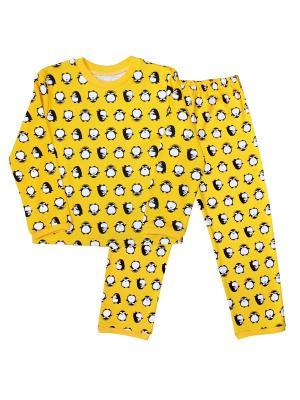 Пижама Веселый малыш. Цвет: светло-желтый