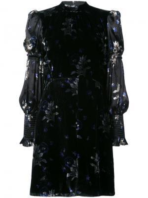 Платье с объемными рукавами Rebecca Taylor. Цвет: чёрный